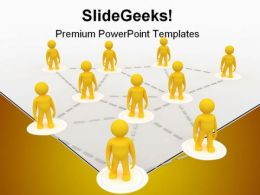 Business Networking Communication PowerPoint Templates And PowerPoint Backgrounds 0711