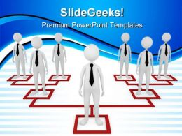 Business Organization Leadership PowerPoint Templates And PowerPoint Backgrounds 0711