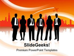 Business People Abstract PowerPoint Template 1110