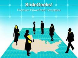 Business People Americana PowerPoint Templates And PowerPoint Backgrounds 0611
