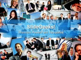 Business People Collage Success PowerPoint Templates And PowerPoint Backgrounds 0811