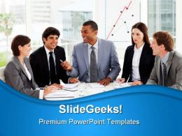 Business People Discussion Success PowerPoint Templates And PowerPoint Backgrounds 0911
