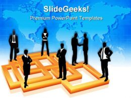 Business People Global Communication PowerPoint Templates And PowerPoint Backgrounds 0511