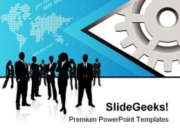 Business People Global PowerPoint Templates And PowerPoint Backgrounds 0811