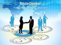 Business People Handshake PowerPoint Templates And PowerPoint Backgrounds 0611