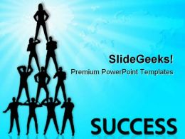 Business People Pyramid Success PowerPoint Templates And PowerPoint Backgrounds 0511