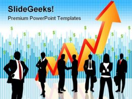 Business People With Growth Success PowerPoint Templates And PowerPoint Backgrounds 0511