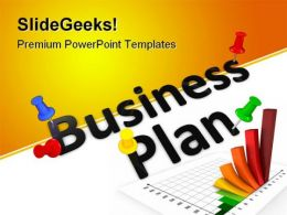 Business Plan Success PowerPoint Backgrounds And Templates 0111