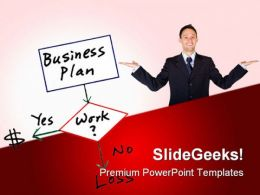 Business Plan Success PowerPoint Templates And PowerPoint Backgrounds 0611