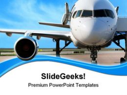 Business Plane Travel PowerPoint Templates And PowerPoint Backgrounds 0511