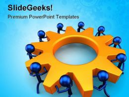 Business Process Teamwork PowerPoint Templates And PowerPoint Backgrounds 0411