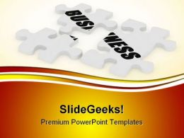 Business Puzzle Metaphor PowerPoint Templates And PowerPoint Backgrounds 0511