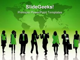 Business Silhouettes Global PowerPoint Templates And PowerPoint Backgrounds 0711