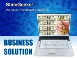 Business Solution Computer PowerPoint Backgrounds And Templates 1210