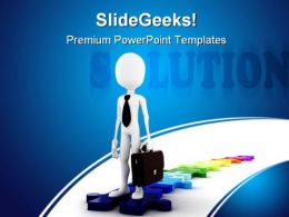 Business Solution Metaphor PowerPoint Templates And PowerPoint Backgrounds 0311