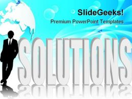 Business Solutions Global PowerPoint Templates And PowerPoint Backgrounds 0711