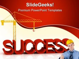 Business Success Construction PowerPoint Templates And PowerPoint Backgrounds 0511