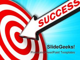 Business Target Success PowerPoint Templates And PowerPoint Backgrounds 0711