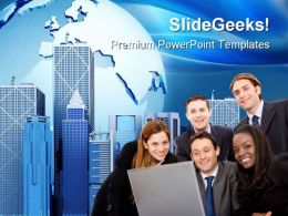 Business Team Computer PowerPoint Templates And PowerPoint Backgrounds 0611