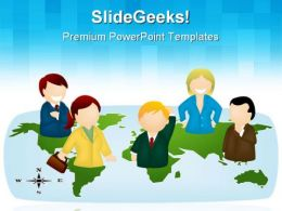 Business Team Global PowerPoint Templates And PowerPoint Backgrounds 0711