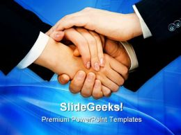 Business Team Handshake PowerPoint Templates And PowerPoint Backgrounds 0611