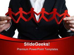 Business Team Leadership PowerPoint Template 1010