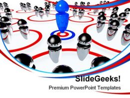 Business Team Leadership PowerPoint Templates And PowerPoint Backgrounds 0711