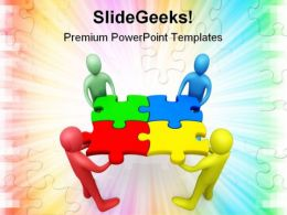 Business Team Shapes PowerPoint Templates And PowerPoint Backgrounds 0511