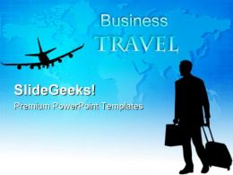Business Travel Global PowerPoint Templates And PowerPoint Backgrounds 0611