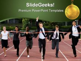 Business Winner Sports PowerPoint Template 1010