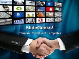 Businessman Handshake PowerPoint Templates And PowerPoint Backgrounds 0511