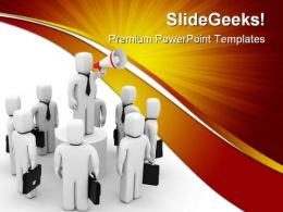Businessmen Communication Leadership PowerPoint Templates And PowerPoint Backgrounds 0511
