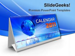 Calendar 2011 Globe PowerPoint Backgrounds And Templates 1210