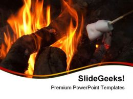 Camp Fire Lifestyle PowerPoint Templates And PowerPoint Backgrounds 0411