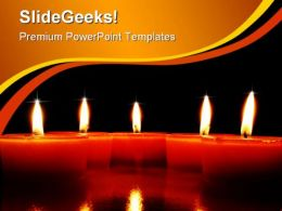 Candles01 Festival PowerPoint Templates And PowerPoint Backgrounds 0411