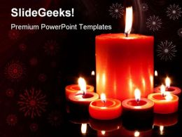 Candles Abstract Holidays PowerPoint Templates And PowerPoint Backgrounds 0311