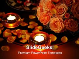 Candles And Rose Petals Beauty PowerPoint Templates And PowerPoint Backgrounds 0311