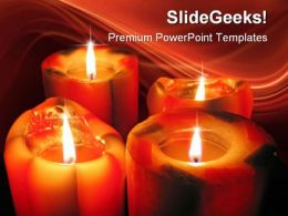 Candles Festival PowerPoint Template 1110