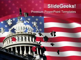 Capital Building Americana PowerPoint Templates And PowerPoint Backgrounds 0111