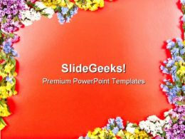 Card With Flowers Design PowerPoint Backgrounds And Templates 0111