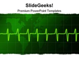Cardiogram01 Medical PowerPoint Template 0910