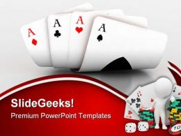 Cards With Dices And Points Game PowerPoint Templates And PowerPoint Backgrounds 0511