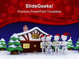 Carol Singers Christmas PowerPoint Templates And PowerPoint Backgrounds 0511