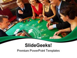 Casino Friends Game PowerPoint Templates And PowerPoint Backgrounds 0511
