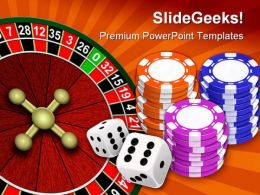 Casino Game Sports PowerPoint Backgrounds And Templates 0111  Presentation Themes and Graphics Slide01