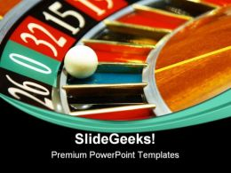 Casino Roulette Game PowerPoint Templates And PowerPoint Backgrounds 0611