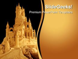 Castle Beach PowerPoint Template 0610  Presentation Themes and Graphics Slide01