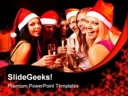 Celebration Christmas PowerPoint Template 0610