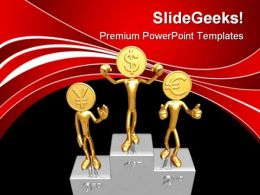 Champions Podium Success PowerPoint Templates And PowerPoint Backgrounds 0611