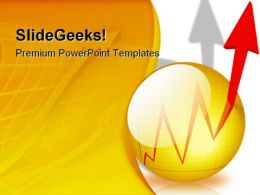 Chart Arrow Business PowerPoint Template 0610